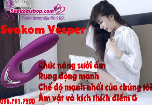 Svakom Vesper máy rung sưởi ấm có thể kích thích G-Spot