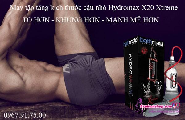 Máy tập tăng kích thước dương vật Hydromax X20 Xtreme