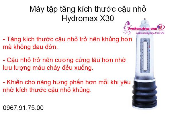 Máy tập tăng kích thước dương vật Hydromax X30