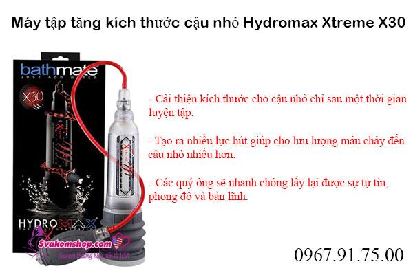 Máy tập tăng kích thước dương vật Hydromax Xtreme X30