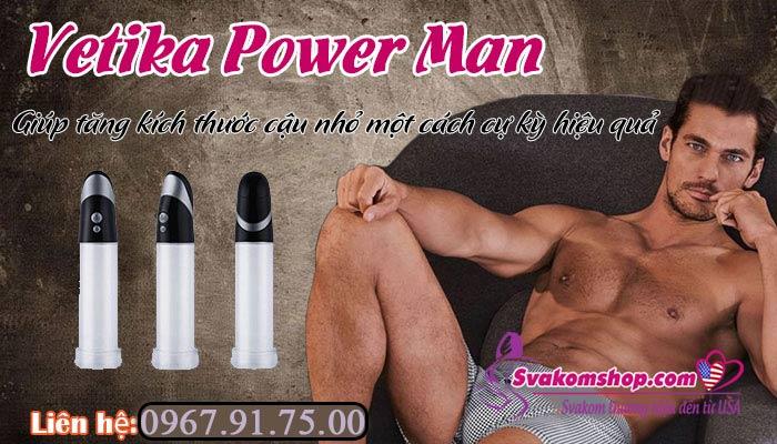 Thông số máy tập tăng kích thước cậu nhỏ Vetika Power Man